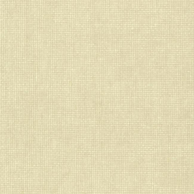 Woven Crosshatch Wallpaper in Cream from the Grasscloth II Collection by York Wallcoverings