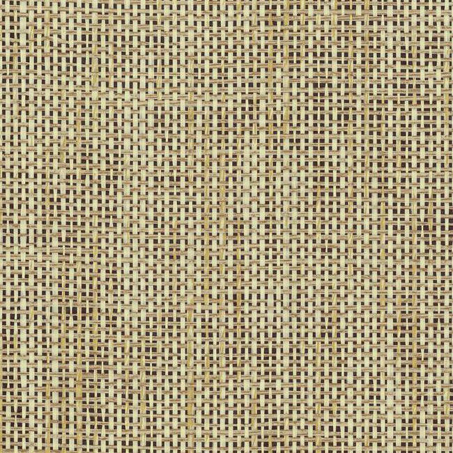 Tan Bathroom With Tan Grasscloth Wallpaper: Woven Crosshatch Wallpaper In Tan And Black From The
