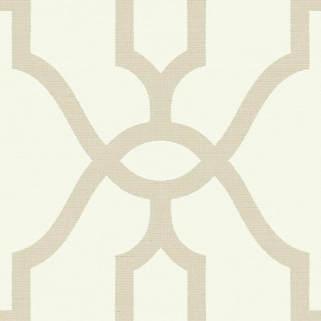 Woven Trellis Wallpaper in Embossed Letter from Magnolia Home Vol. 2 by Joanna Gaines