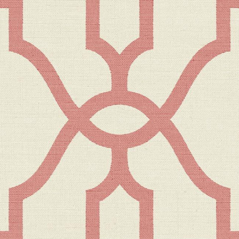Woven Trellis Wallpaper in Pompian Red from Magnolia Home Vol. 2 by Joanna Gaines