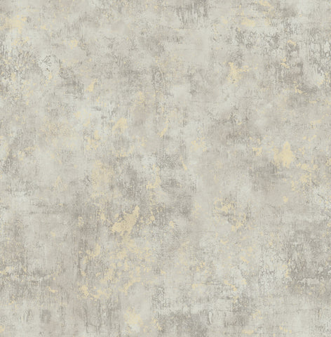 Wright Stucco Wallpaper in Neutrals from the Metalworks Collection by Seabrook Wallcoverings