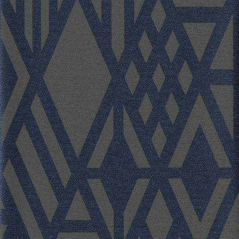 Wrought Iron Wallpaper in Blue from the Moderne Collection by Stacy Garcia for York Wallcoverings