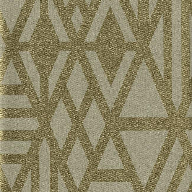 Sample Wrought Iron Wallpaper in Gold from the Moderne Collection by Stacy Garcia for York Wallcoverings