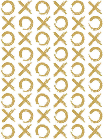 XO Wallpaper in Gold by Marley + Malek Kids