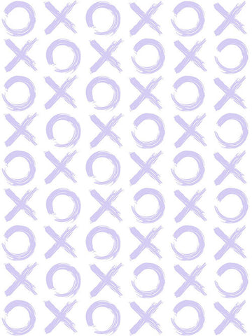 XO Wallpaper in Lavender by Sissy + Marley for Jill Malek