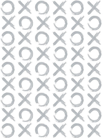 XO Wallpaper in Silver by Marley + Malek Kids