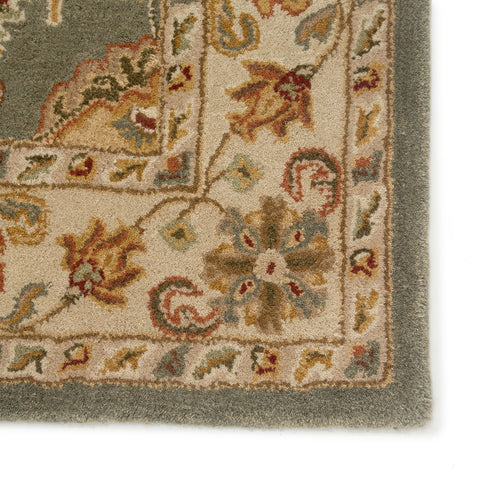 Callisto Handmade Floral Green/ Beige Area Rug by Jaipur Living