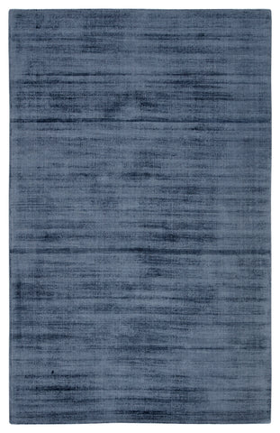 Yasmin Handmade Solid Blue & Gray Area Rug