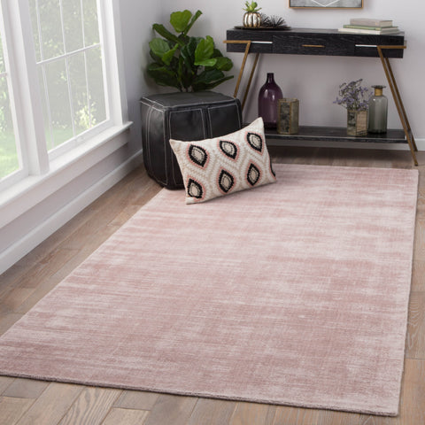 Yasmin Handmade Solid Pink Area Rug design by Jaipur