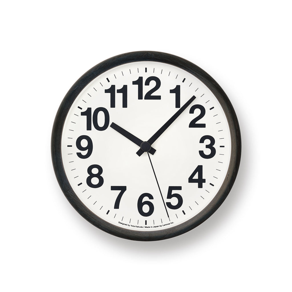 Clock A in Black design by Lemnos