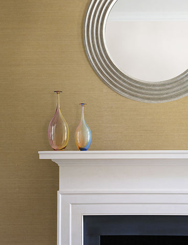 Yana Sand Grasscloth Wallpaper from the Jade Collection by Brewster Home Fashions