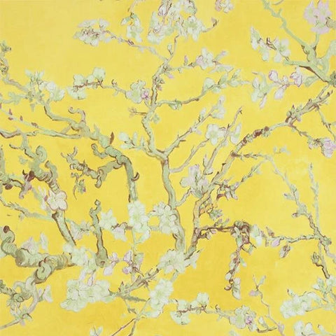 Sample Yellow Almond Blossom Bold Floral Wallpaper by Walls Republic