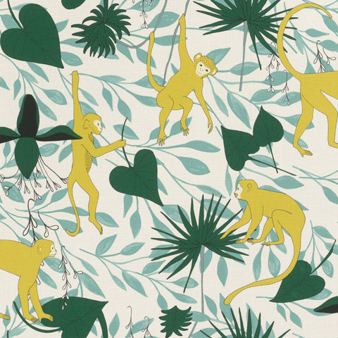 Sample Yellow Climbing Monkeys Wallpaper by Walls Republic