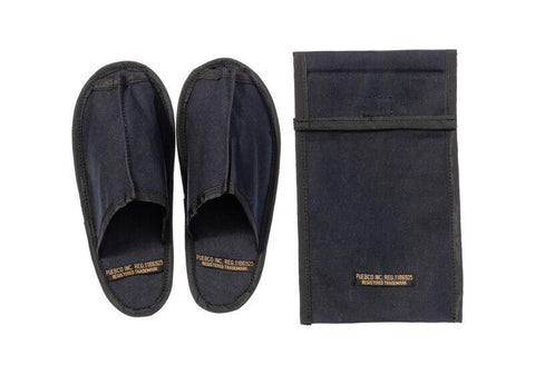 Waxed Canvas Portable Slipper - Small - Black