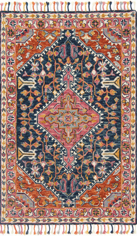 Zharah Rug in Navy & Multi by Loloi