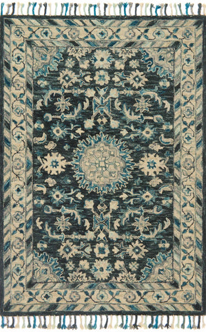 Zharah Rug in Teal & Grey by Loloi