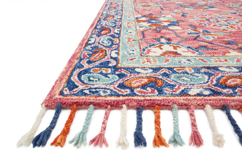 Zharah Rug in Rose & Denim by Loloi