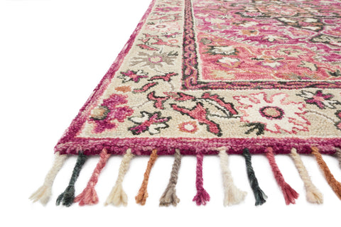 Zharah Rug in Raspberry & Taupe by Loloi