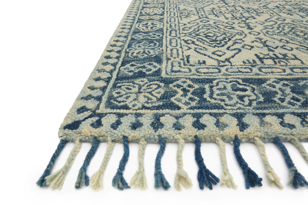 Zharah Rug in Mist & Blue by Loloi