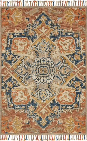 Zharah Rug in Rust & Blue by Loloi