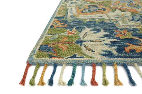 Zharah Rug in Blue & Multi by Loloi