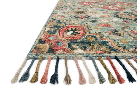 Zharah Rug in Light Blue & Multi by Loloi