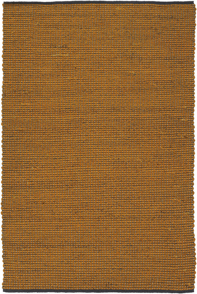 Zola Collection Hand-Woven Area Rug in Orange & Charcoal design by Chandra rugs