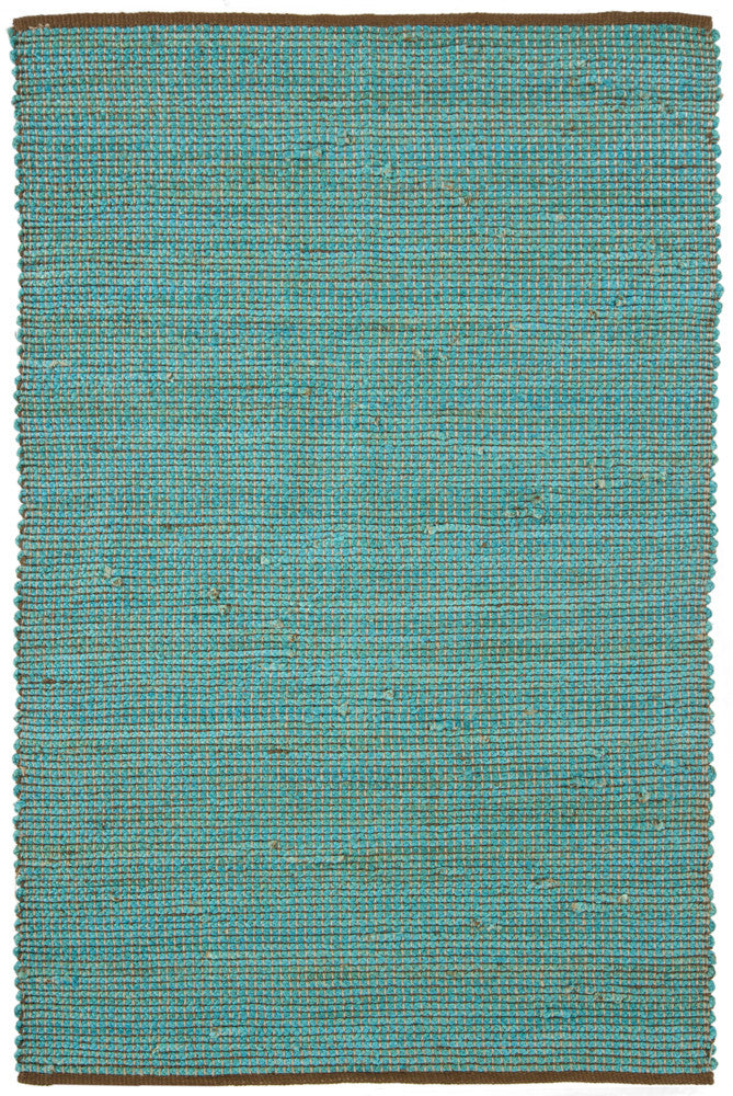 Zola Collection Hand-Woven Area Rug in Blue & Charcoal