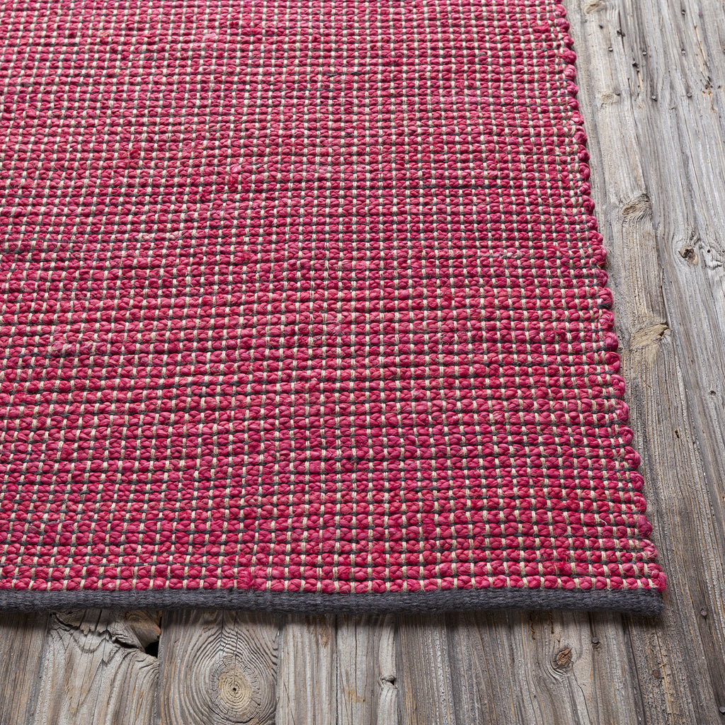 Orian Rugs Patterson Charcoal: Zola Collection Hand-Woven Area Rug In Red & Charcoal