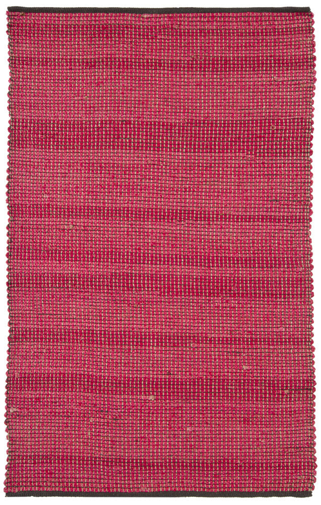 Zola Collection Hand-Woven Area Rug in Red & Charcoal