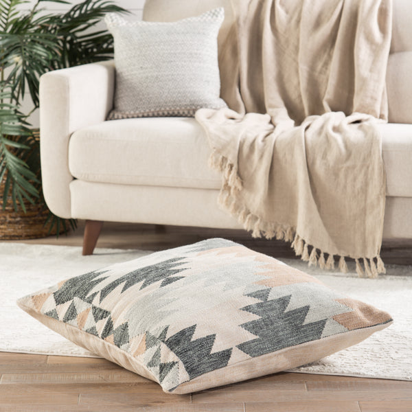 Kayenta Geometric Cream & Gray Pillow design by Jaipur Living