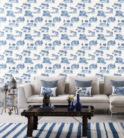 Zanskar Wallpaper by Matthew Williamson for Osborne & Little