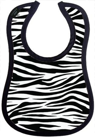 Zebra Baby Bib by Mini Maniacs