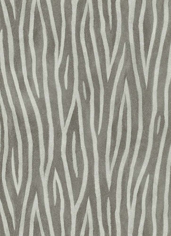 Zebra stripes wallpaper in grey and black design by bd for Black and grey wallpaper designs