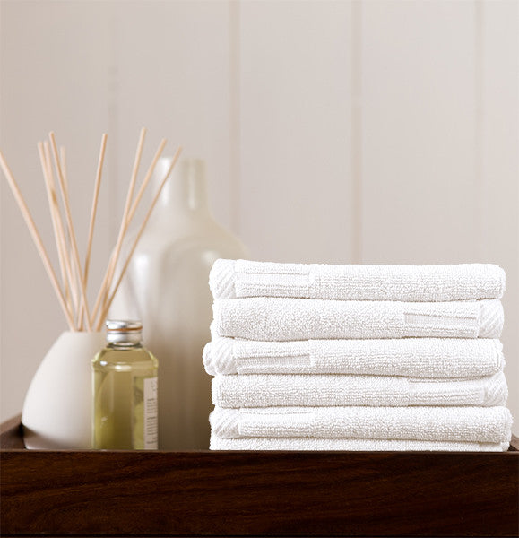 Set of 6 Zenith Washcloths in Assorted Colors design by Turkish Towel Company