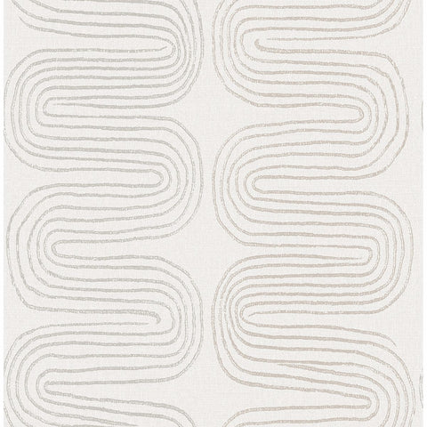 Zephyr Abstract Stripe Wallpaper in Grey from the Celadon Collection by Brewster Home Fashions