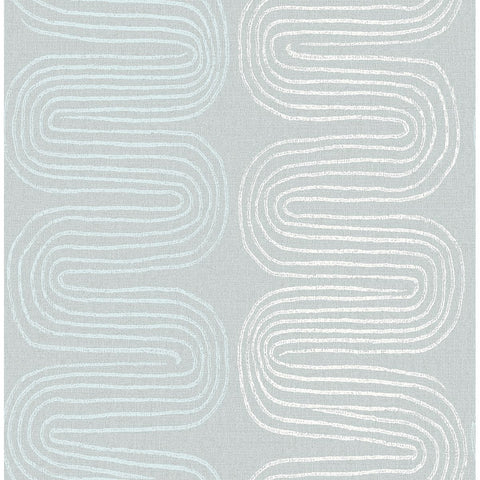 Zephyr Abstract Stripe Wallpaper in Light Blue from the Celadon Collection by Brewster Home Fashions