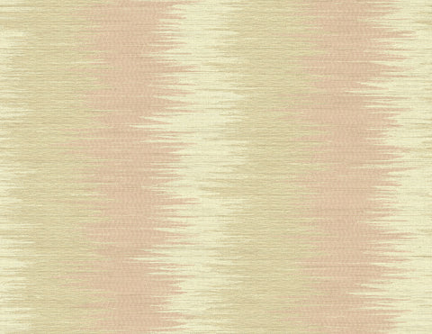 ZigZag Wallpaper in Coral Rays from the Nouveau Collection by Wallquest