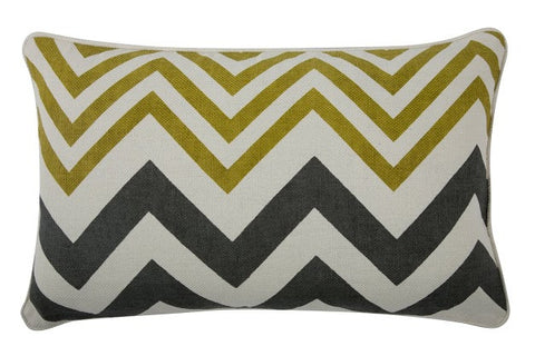 "Zig Zag 12"" x 20"" Reversible Pillow in Ochre design by Thomas Paul"