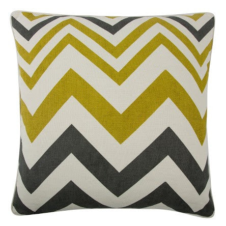"Zig Zag 22"" Reversible Pillow in Ochre design by Thomas Paul"