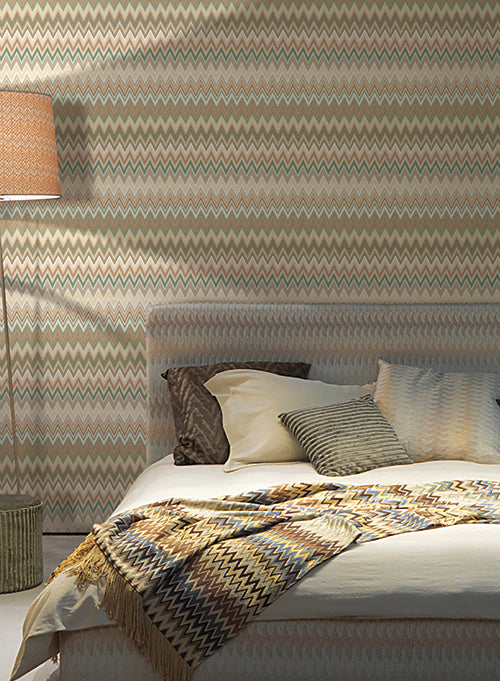 dbc5d327d43b Zig Zag Multicolore Wallpaper in Blush