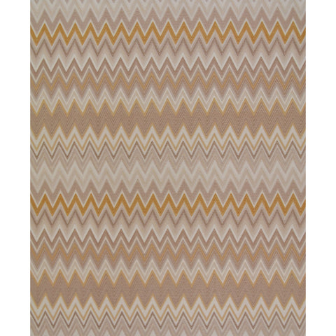 Zig Zag Multicolore Wallpaper in Cream, Tan, and Gold by Missoni Home for York Wallcoverings