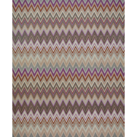 Zig Zag Multicolore Wallpaper in Orchid, Cream, and Copper by Missoni Home for York Wallcoverings