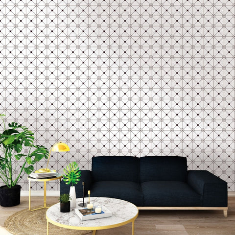 Zodiac Self-Adhesive Wallpaper in Black and White design by Tempaper