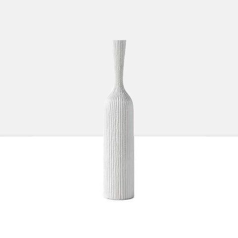 Zoro Carved Line Resin Floor Vase in Tall