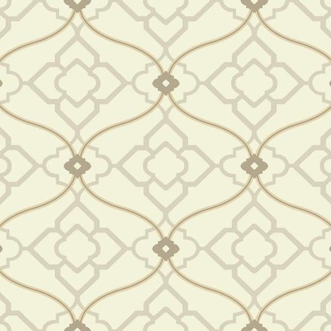 Sample Zuma Wallpaper in Beige design by Candice Olson for York Wallcoverings