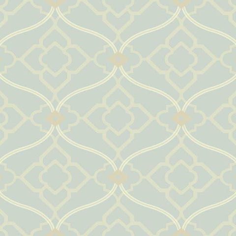 Sample Zuma Wallpaper in Grey-Blue design by Candice Olson for York Wallcoverings