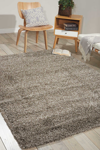Amore Collection Shag Area Rug in Stone by Nourison