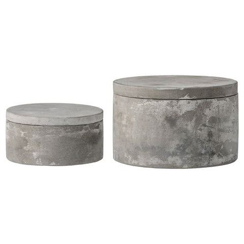 Set of 2 Cement Boxes w/ Lids design by BD Edition