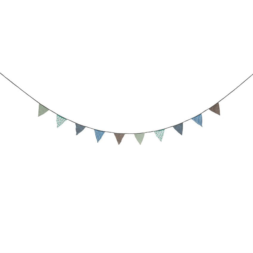 Fabric Banner in Grey, Blue, & Green design by BD Mini